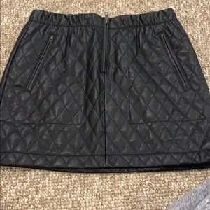 BCBG Leather Skirt Size XS WORN ONCE!